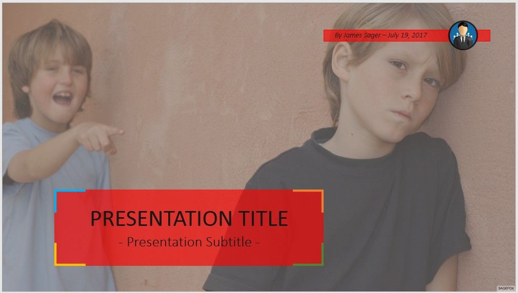 Free school bullying powerpoint 81489 sagefox powerpoint templates child being bullied powerpoint toneelgroepblik Images