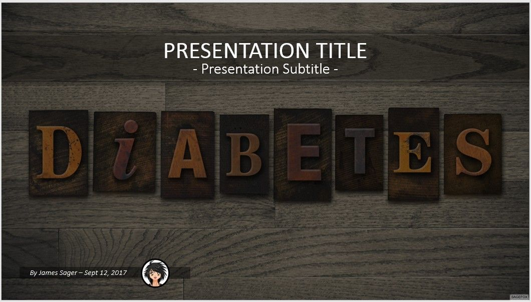 Free diabetes powerpoint 61407 14053 free powerpoint templates by james sager toneelgroepblik Choice Image