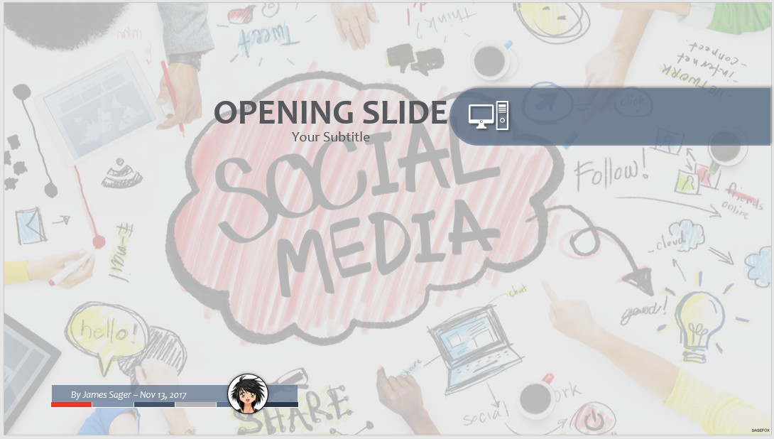 free social media ppt #64082 | sagefox powerpoint templates., Modern powerpoint