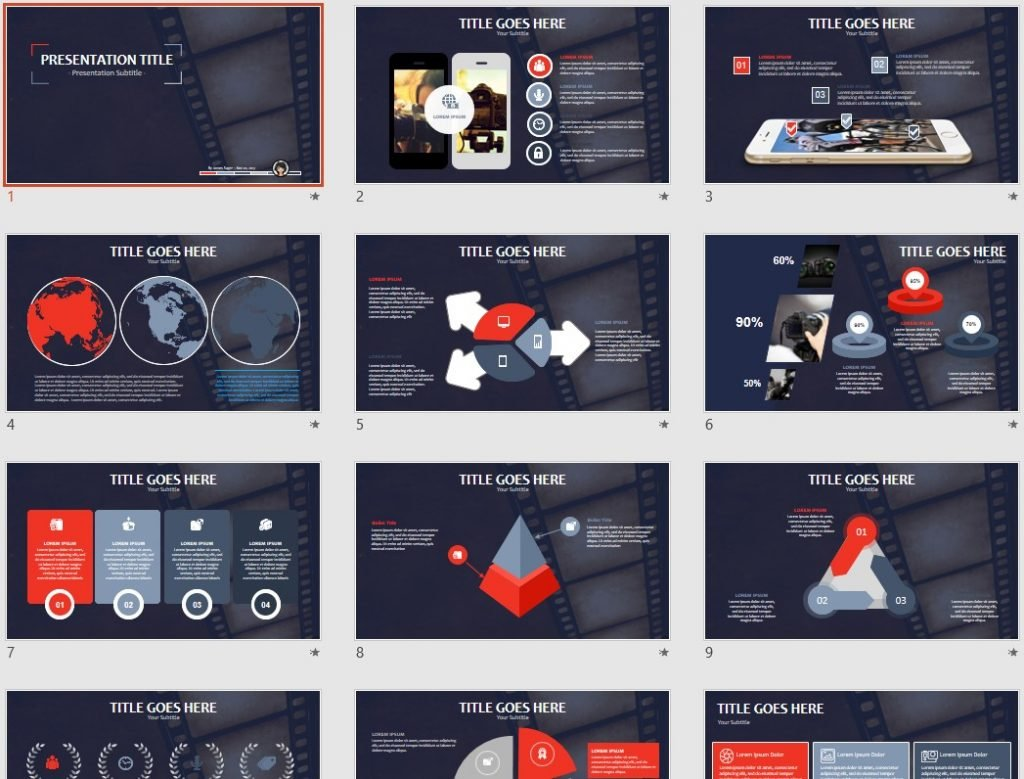 powerpoint templates free movie image collections