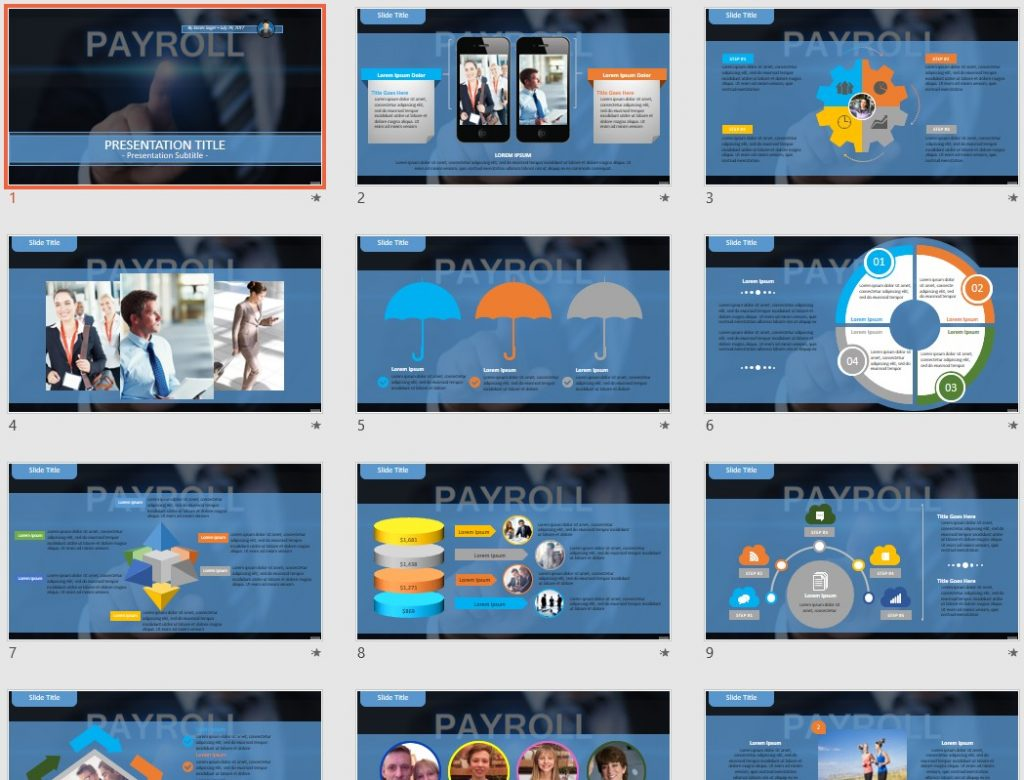 Payroll PowerPoint by SageFox