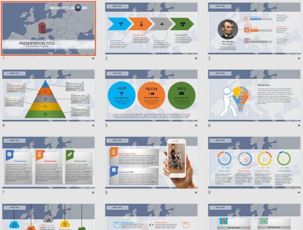 switzerland map PowerPoint by SageFox