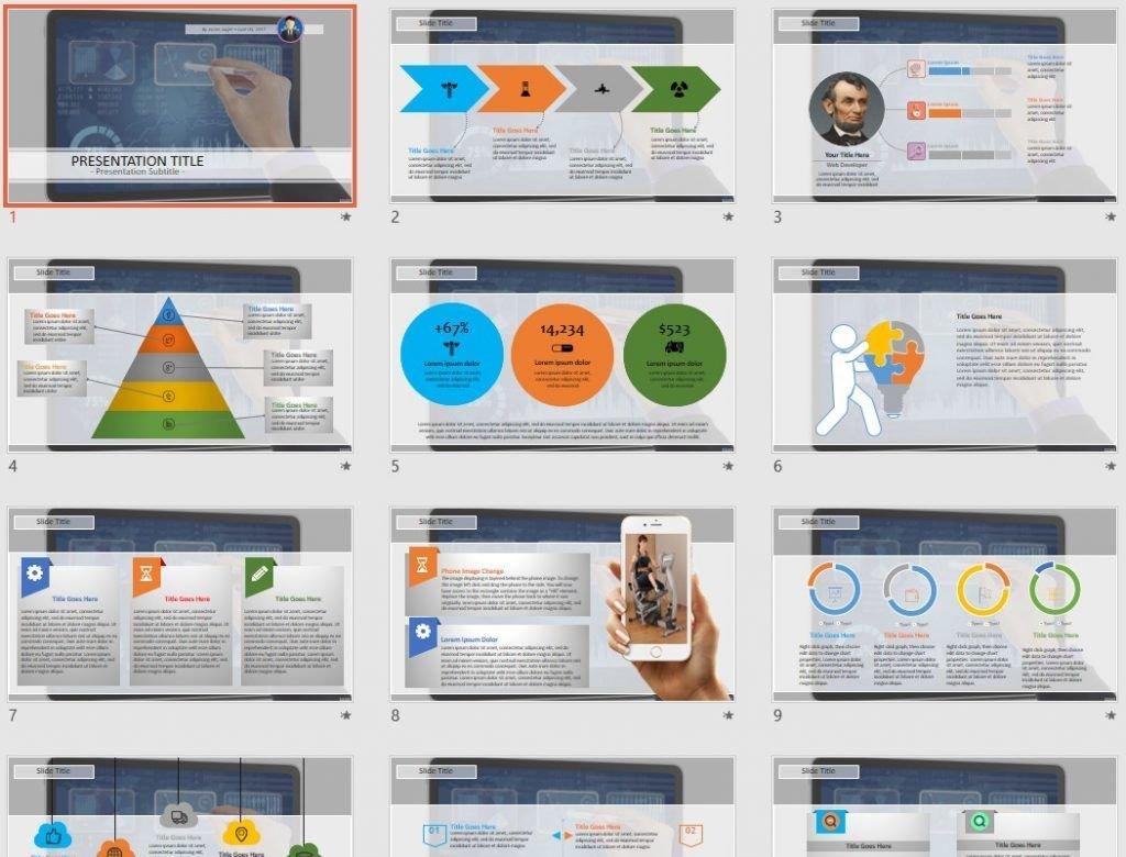 Digital Chart PowerPoint by SageFox