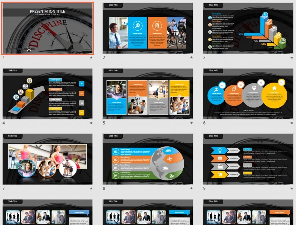 Discipline PowerPoint by SageFox