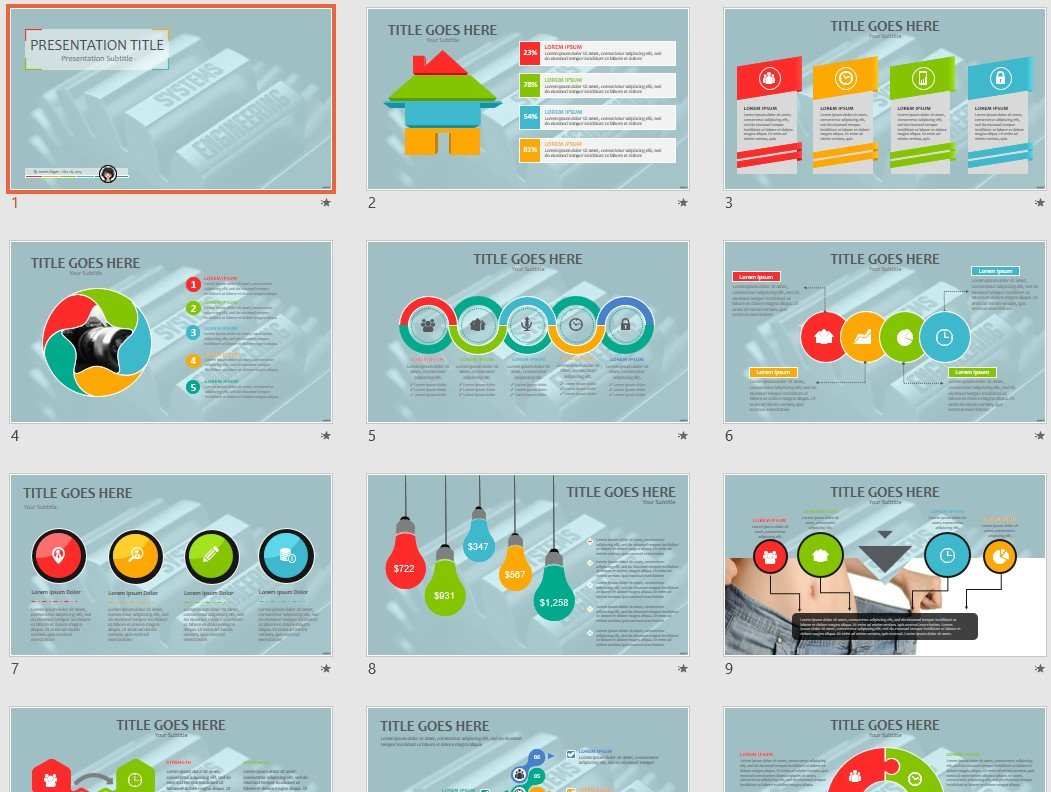 Systems Engineering Powerpoint Template 65151