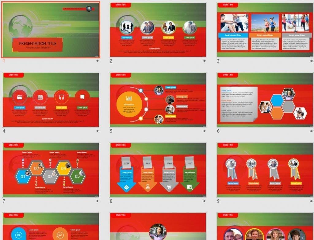 green hi-tech PowerPoint by SageFox