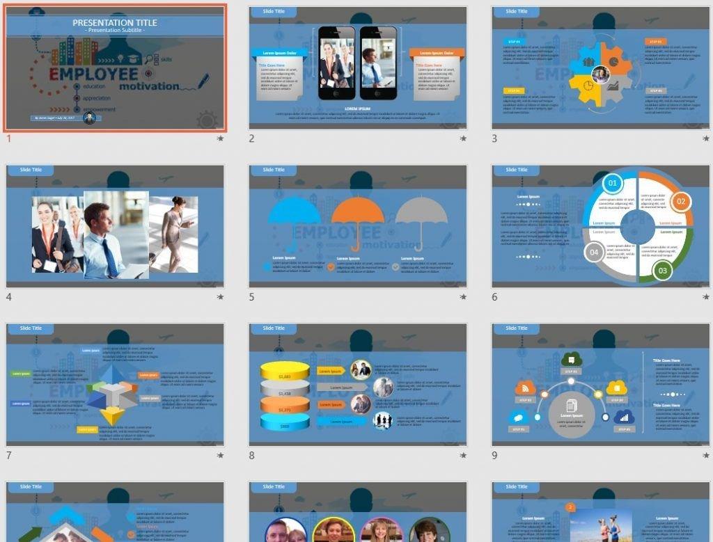 Employee motivation PowerPoint by SageFox