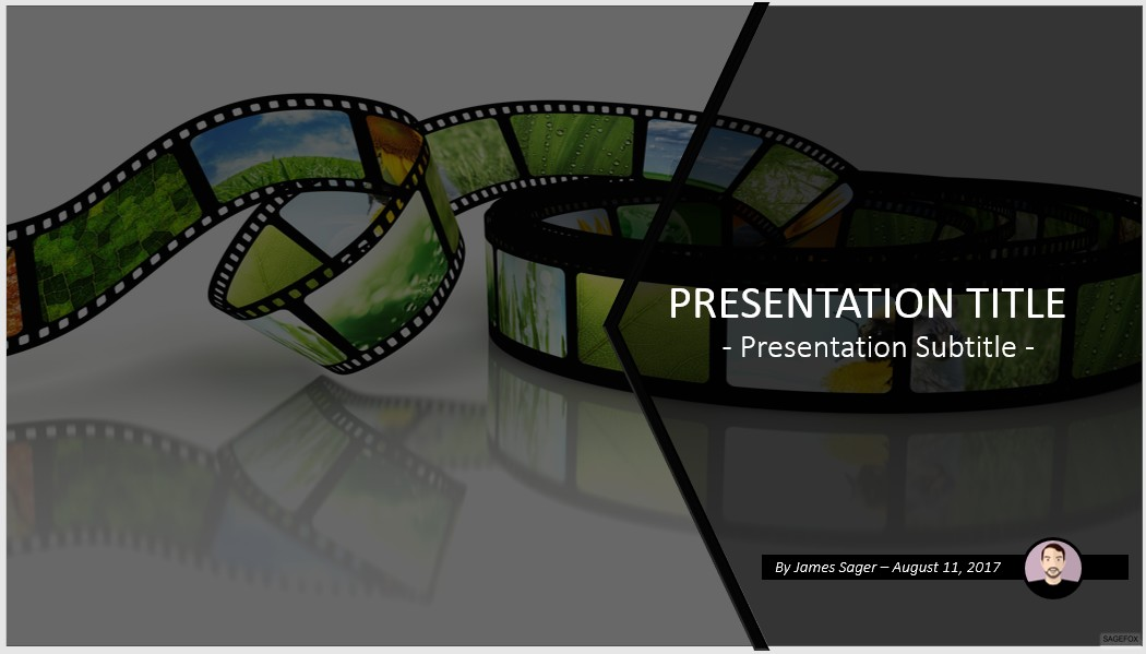 free film with images powerpoint #66466 | 14131 free powerpoint, Presentation templates