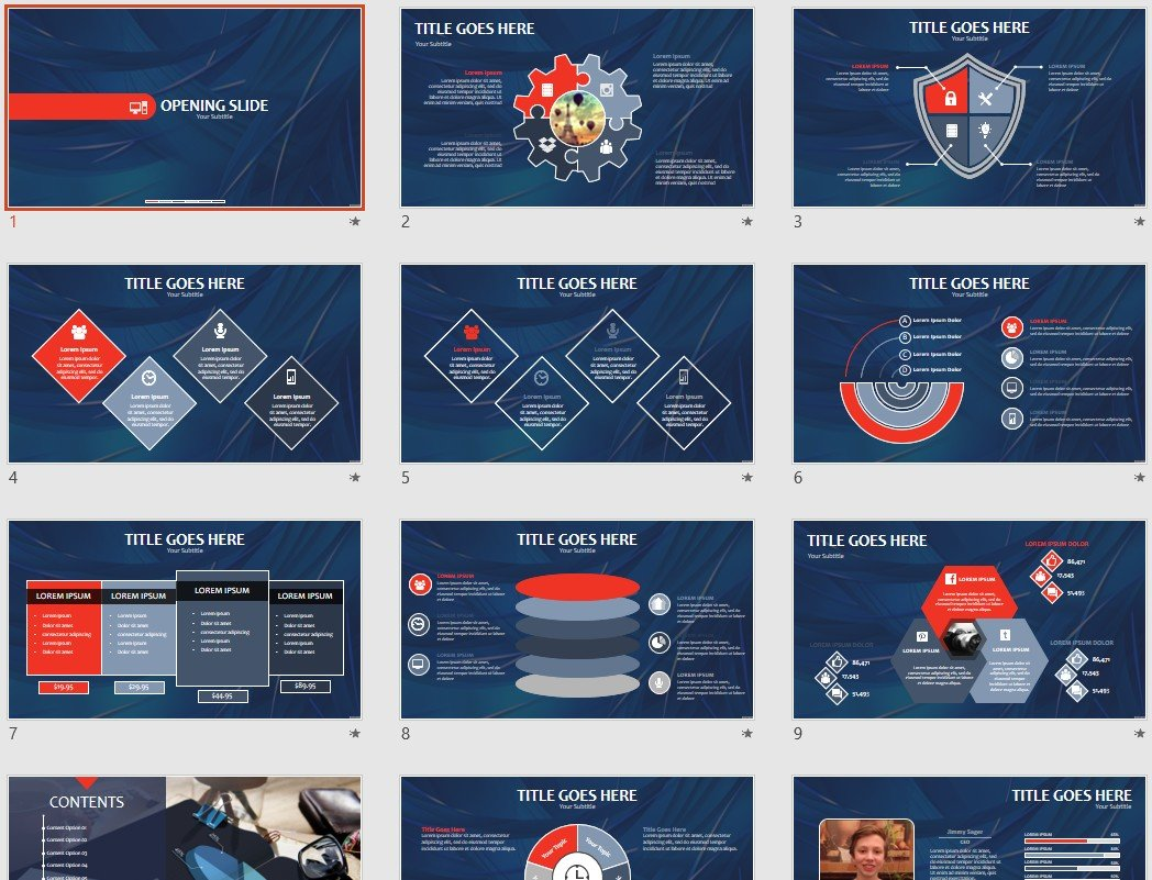Blue Abstract Powerpoint Template 66621 Sagefox Free