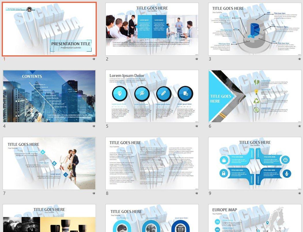 Social Media Powerpoint Template 67200 Sagefox Free Powerpoint