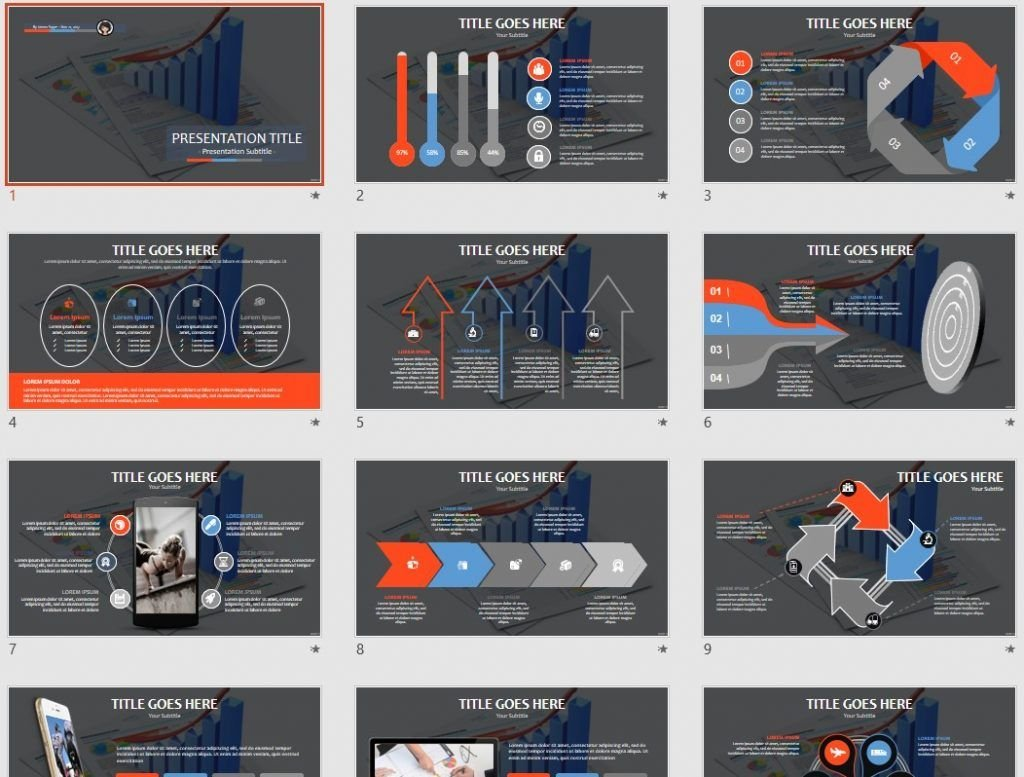 business graph PPT by SageFox