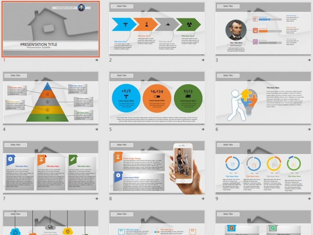 Real Estate Concept PowerPoint by SageFox