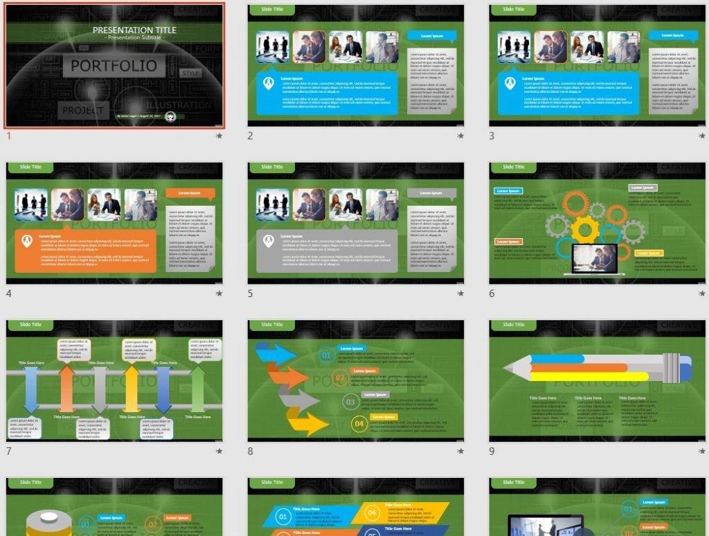 Portfolio PowerPoint by SageFox