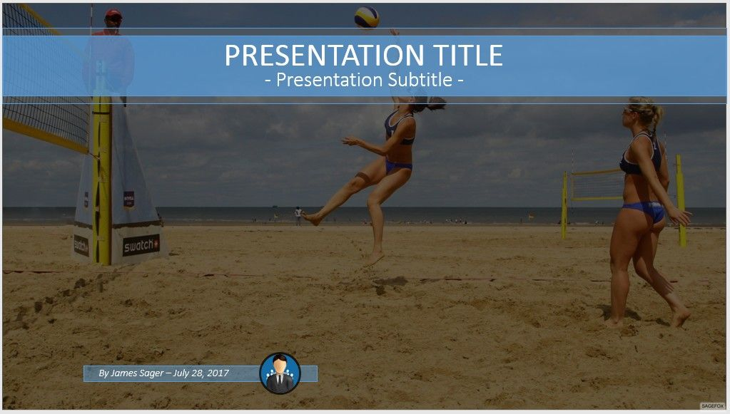 Free beach volleyball powerpoint 61969 sagefox powerpoint please share this powerpoint template toneelgroepblik Images