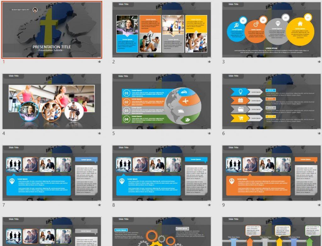 Sweden PowerPoint by SageFox