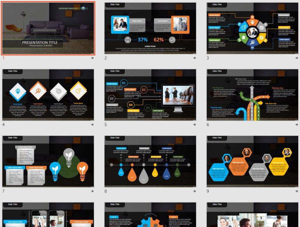 Interior Design PowerPoint by SageFox