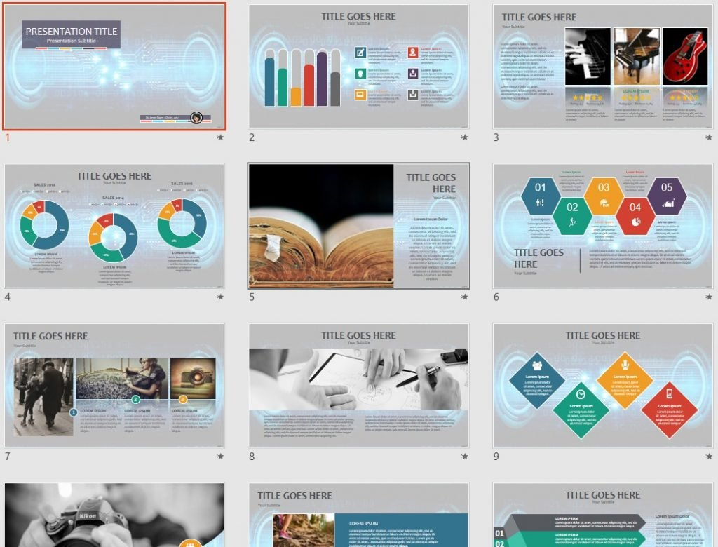 Abstract Technology PPT by SageFox