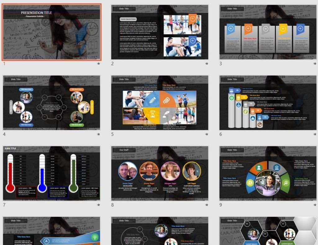 Education Concept PowerPoint by SageFox
