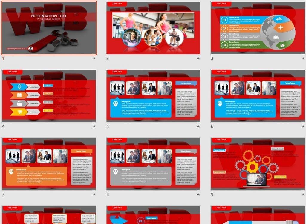 web development PowerPoint by SageFox