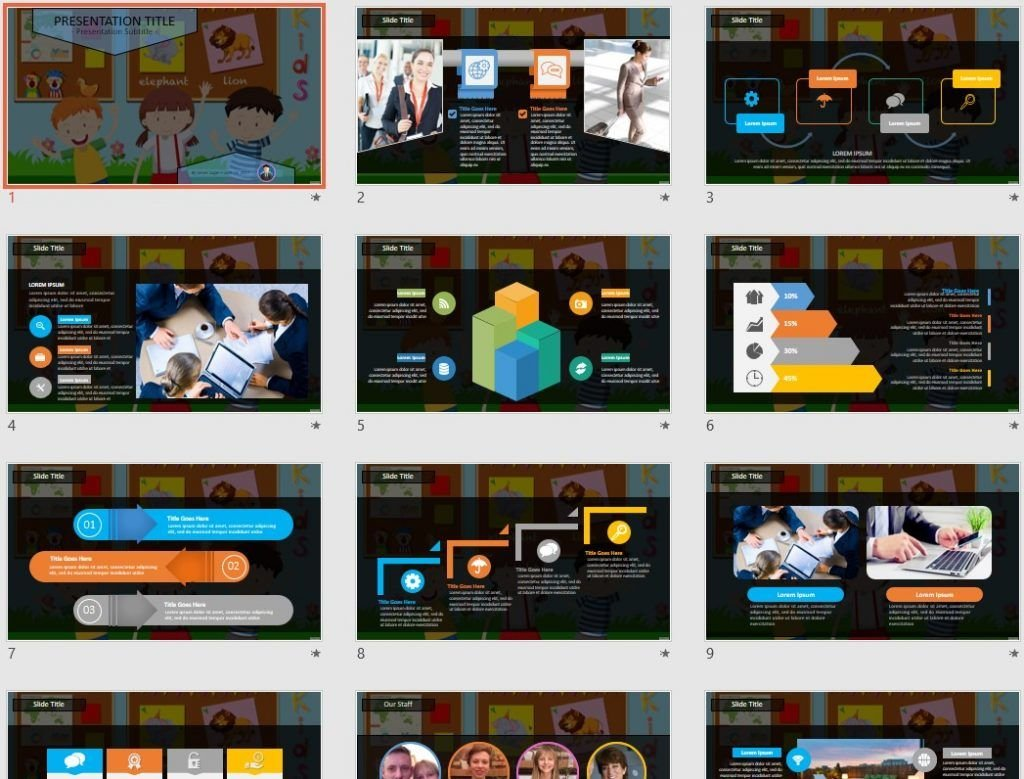 Classroom Cartoon PowerPoint by SageFox
