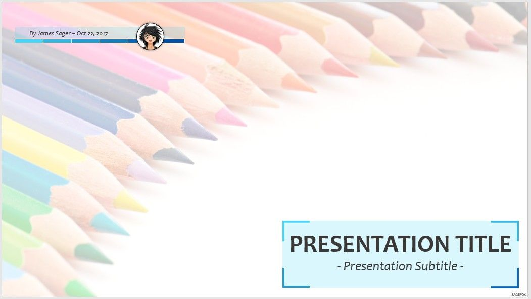 Free Colored Pencils Ppt 70506 Sagefox Powerpoint Templates