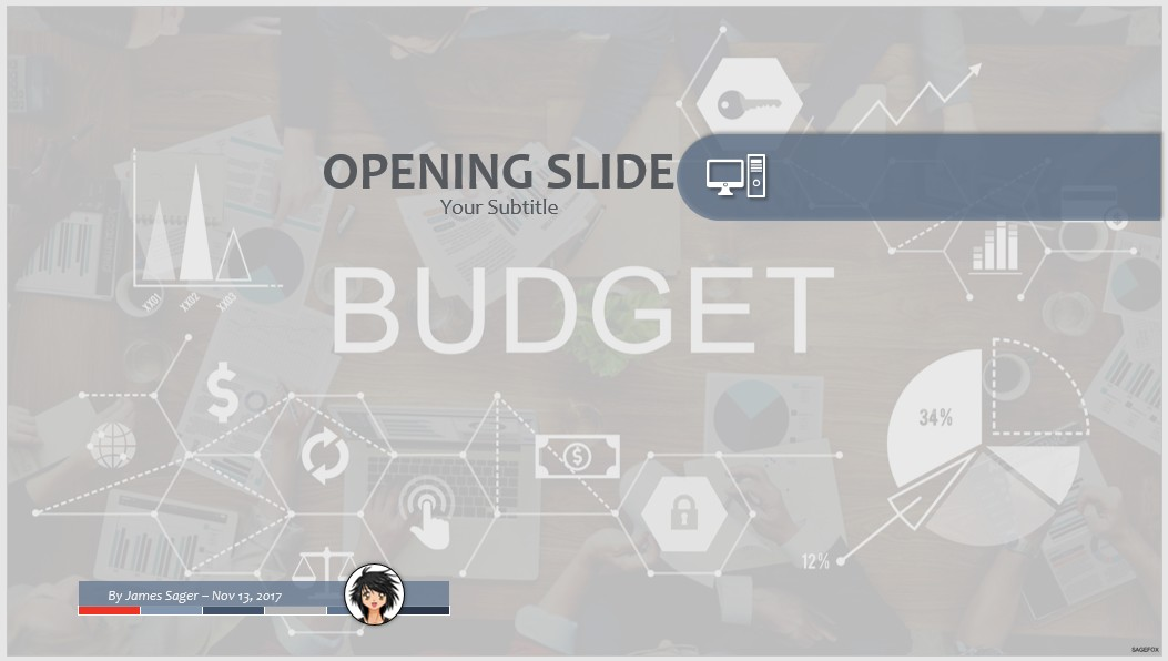 free budget powerpoint template  7677