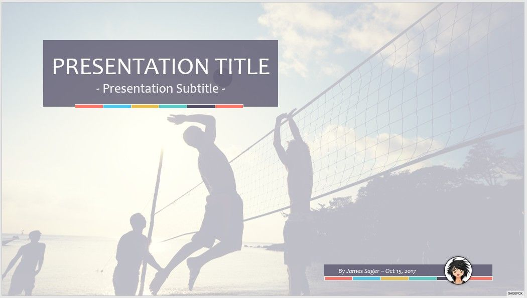 Free volleyball ppt 68214 sagefox powerpoint templates by james sager toneelgroepblik Gallery