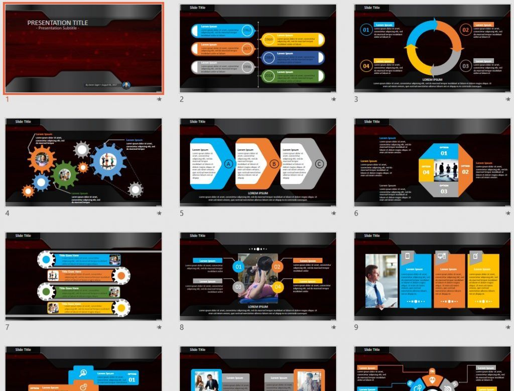 red technology PowerPoint by SageFox