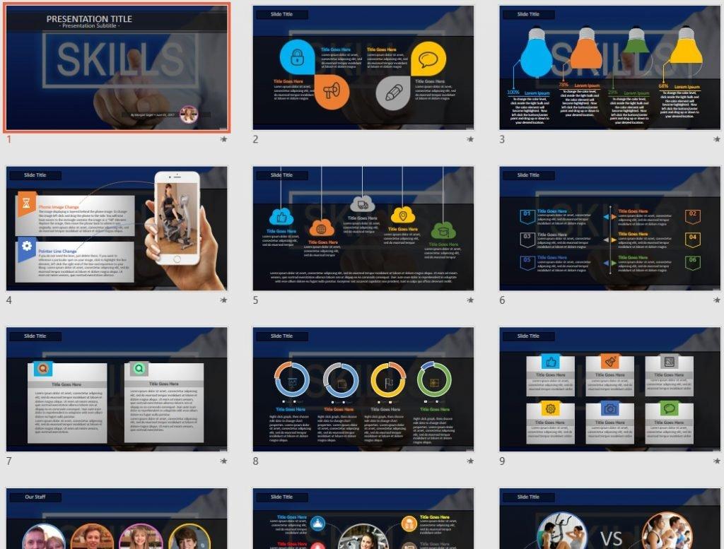Skills PowerPoint by SageFox