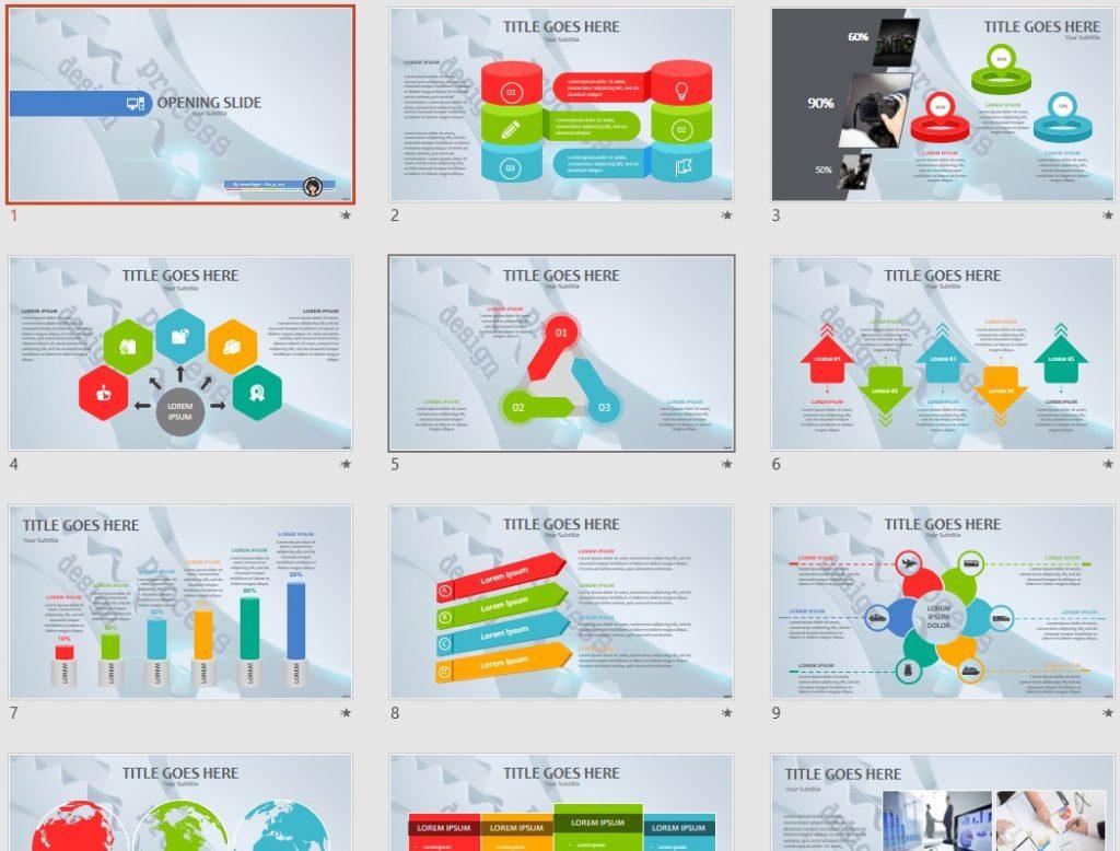 Design process PPT by SageFox