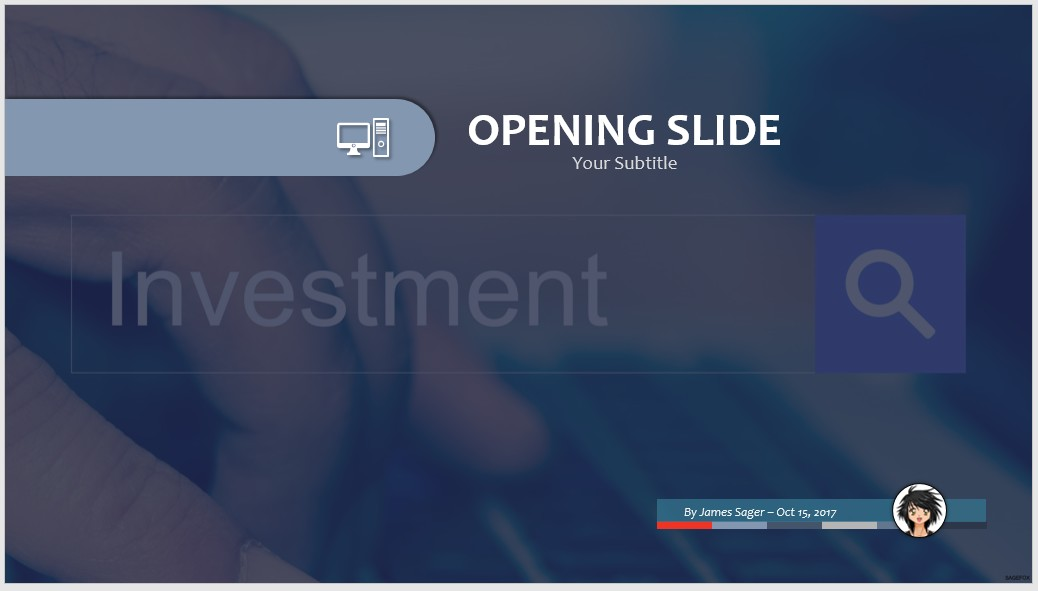 investor presentation template download at four quadrant investment, Powerpoint Template Investor Presentation, Presentation templates