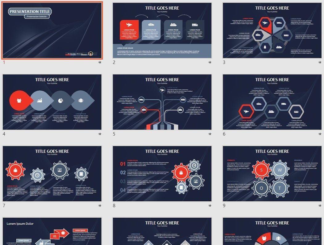 Dark Abstract Powerpoint Template 71136