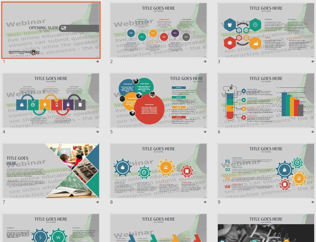 Free Webinar PowerPoint #71277 | SageFox Free PowerPoint Templates.
