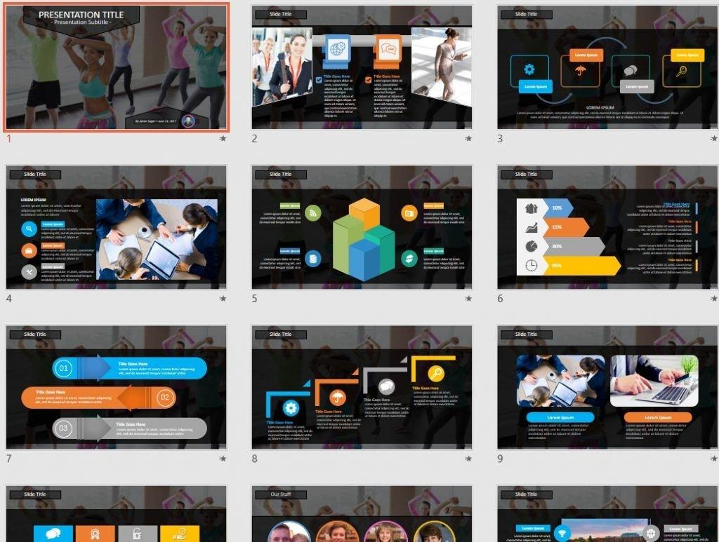 Zumba PowerPoint by SageFox