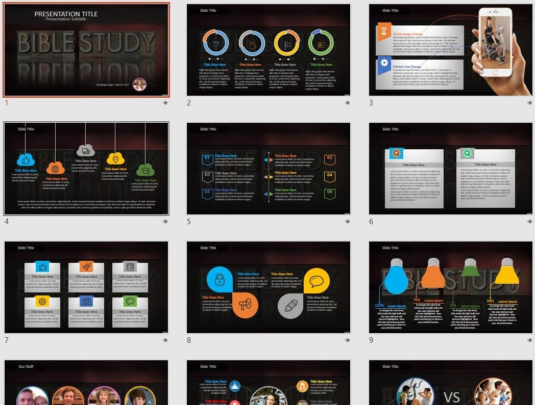 Bible Study Powerpoint Template 68439