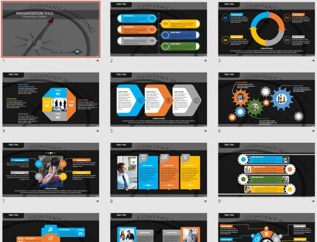 content marketing PowerPoint by SageFox