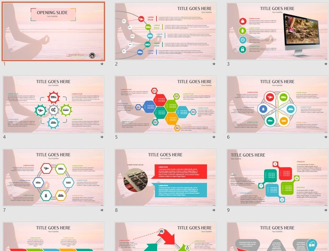 Free yoga powerpoint 68867 sagefox free powerpoint templates by james sager toneelgroepblik Image collections