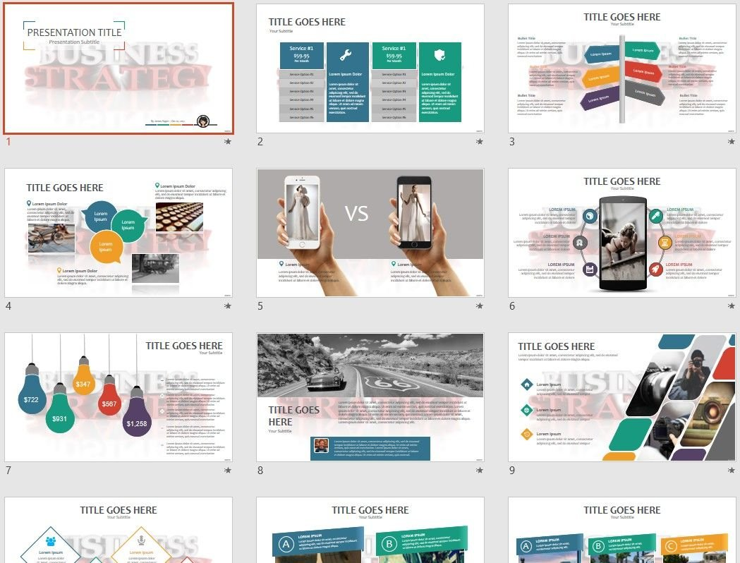Business Strategy Powerpoint Template 68819 Sagefox Free