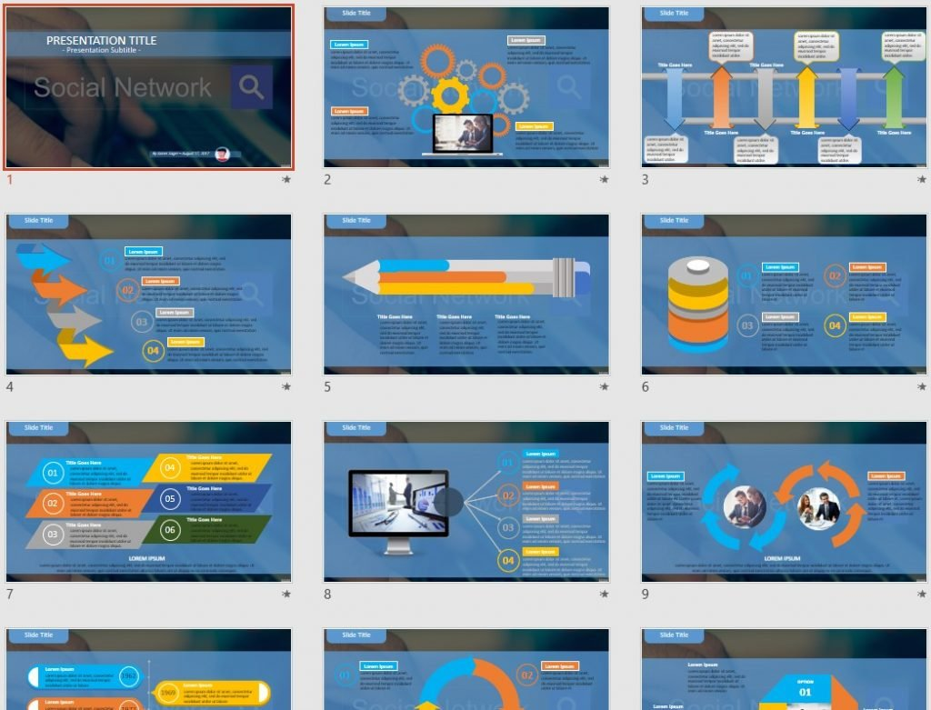 social network powerpoint - free social network powerpoint, Presentation templates