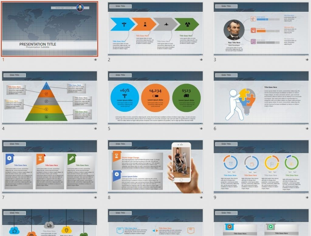 World Map PowerPoint by SageFox