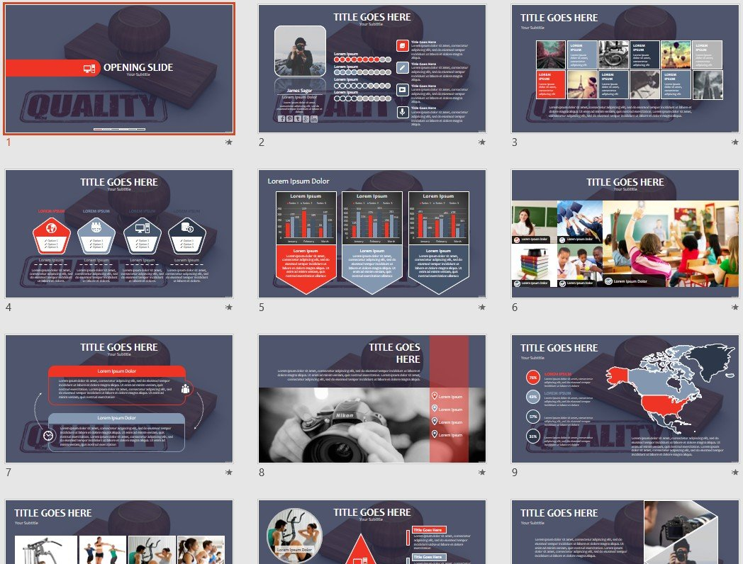 Quality Powerpoint Template 69586 Sagefox Free Powerpoint Templates