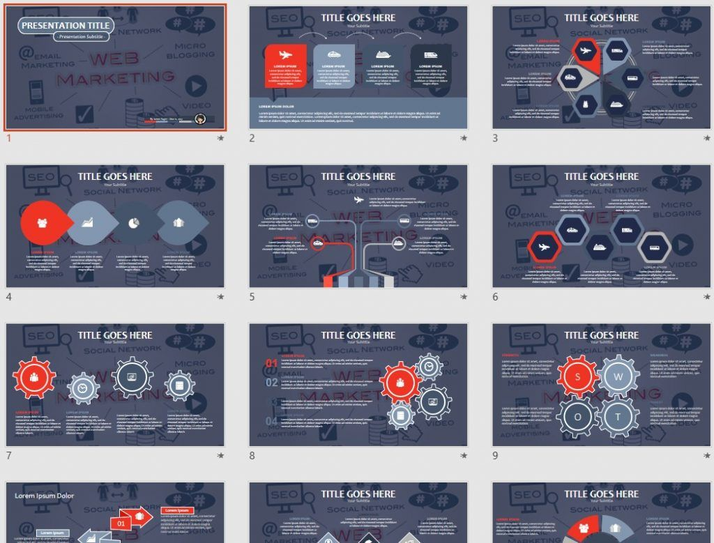 Web Marketing PPT by SageFox