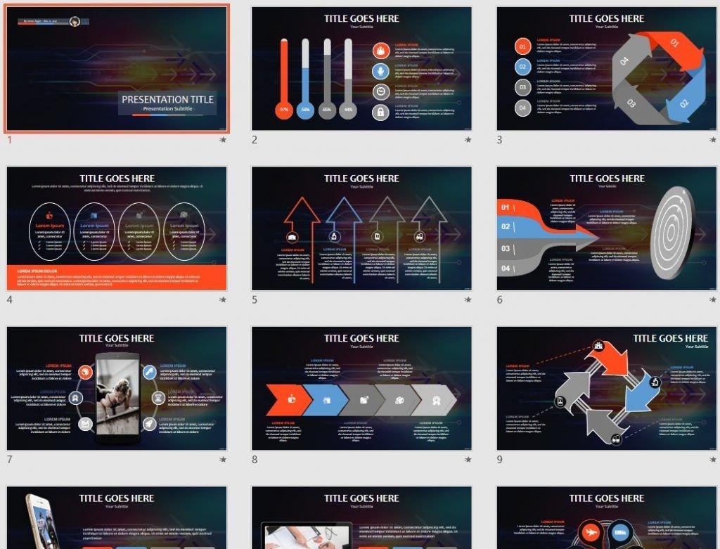 High tech PPT by SageFox