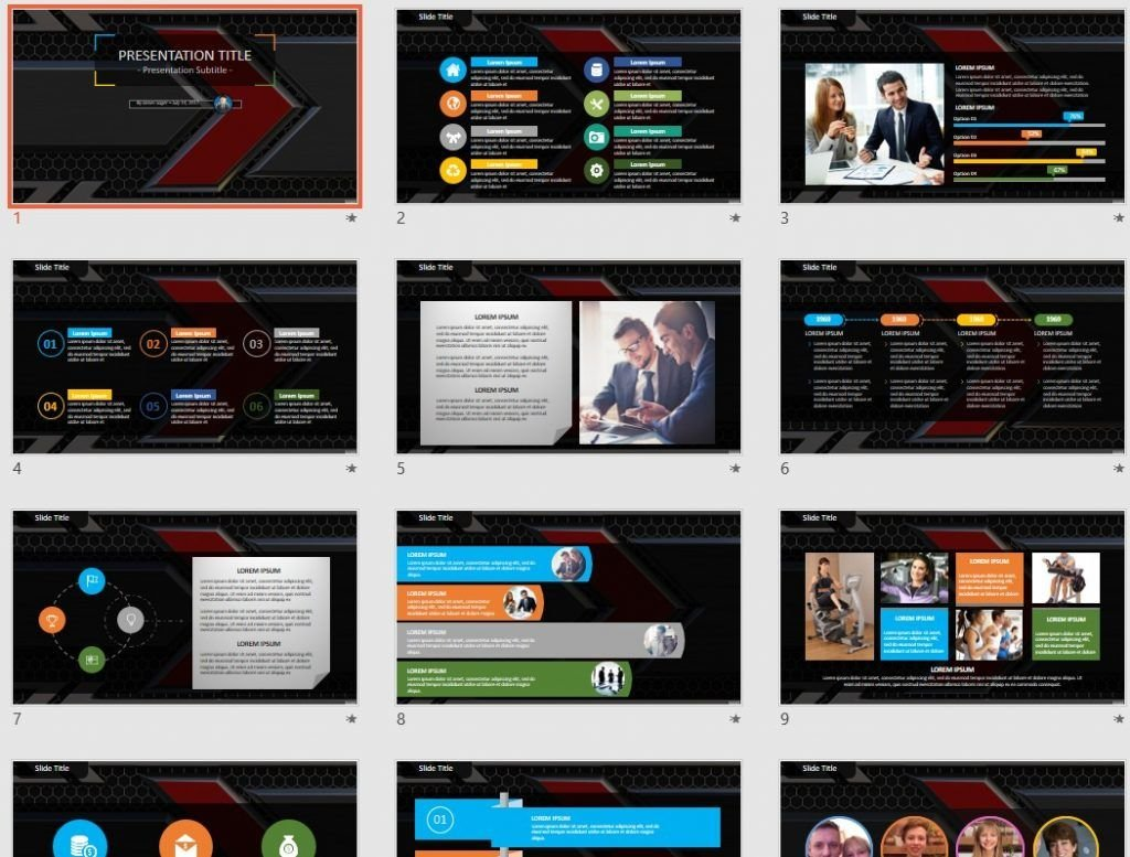 3d metal PowerPoint by SageFox