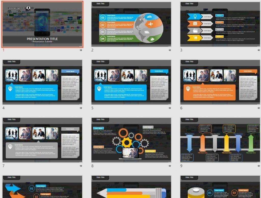 Smart phone PowerPoint by SageFox