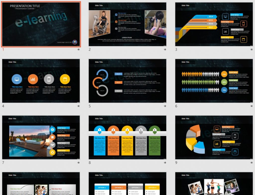 E-learning PowerPoint by SageFox
