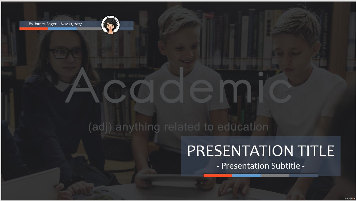 free academic ppt #73342 | 13896 free powerpoint templates, Modern powerpoint