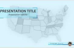 US Map PowerPoint Free PowerPoint US Map PowerPoint By - Us map ppt