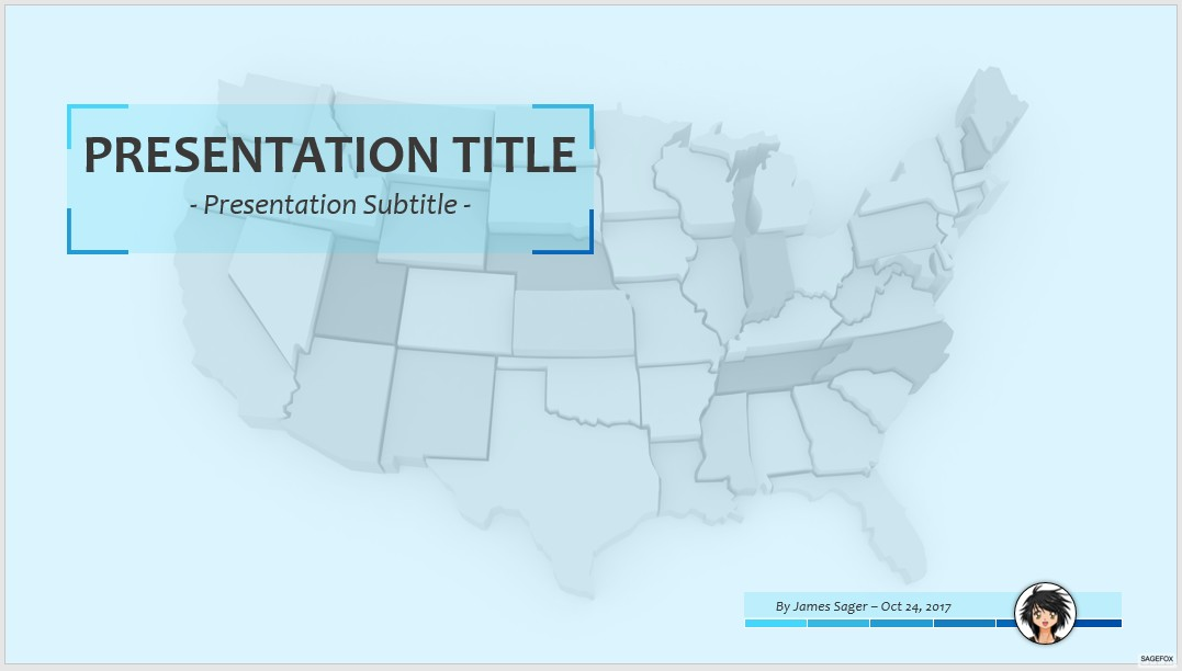 Free USA Map PPT SageFox Free PowerPoint Templates - Usa map ppt