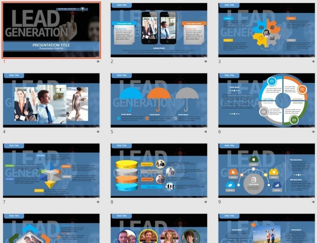 Lead Generation PowerPoint by SageFox